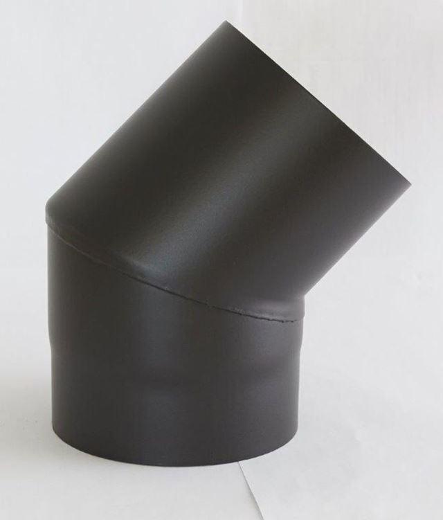 Røykrør ø 125x106x120 mm 45 grader sort matt emalje 1,1 mm Røykrør, Jøtul Jøtul AS