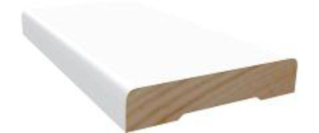 Dørsett 12x58 mm hvitmalt furu Dørsett furu 7083263